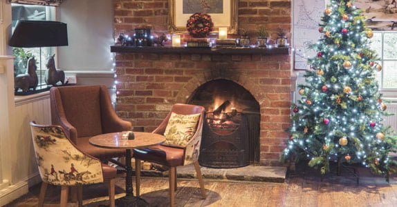 Cosy fire and Christmas tree