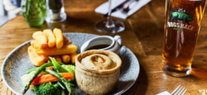 British pie and chips