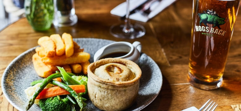 British pie and chips